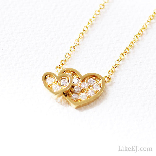Twin Heart Necklace - LikeEJ - 1
