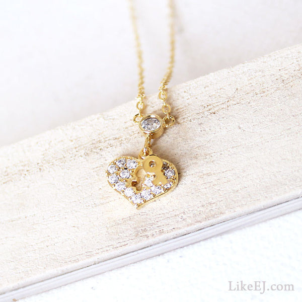 Heart Key Necklace - LikeEJ - 1