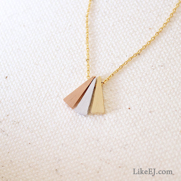 Triple Triangle Necklace - LikeEJ - 1