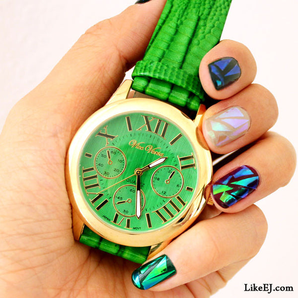 Crocodile Green Watch - LikeEJ - 1