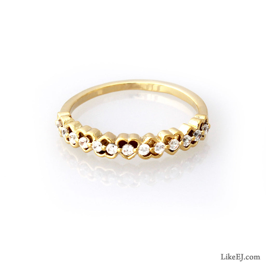 Heart Pattern Ring - LikeEJ - 1