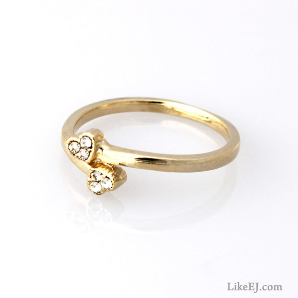 Double Heart Ring - LikeEJ - 1