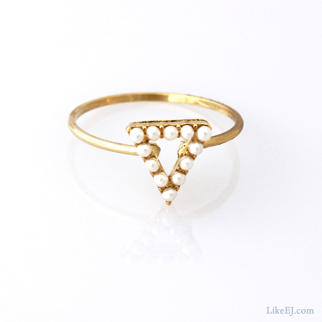 Lovely Triangle Ring - LikeEJ - 1
