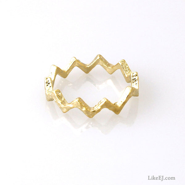 Zigzag Simple Ring - LikeEJ - 1