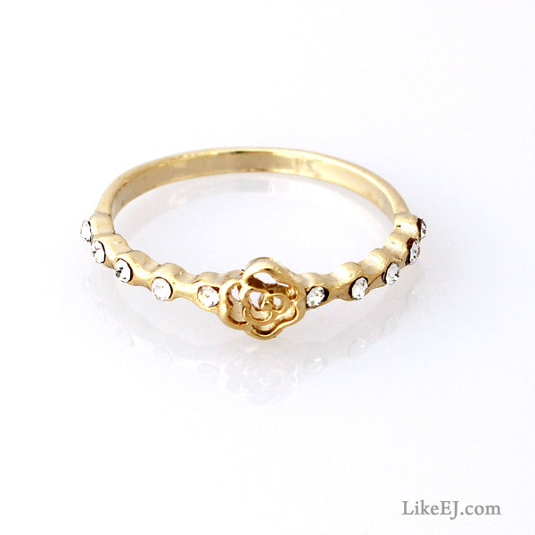 Tiny Rose Ring - LikeEJ - 1