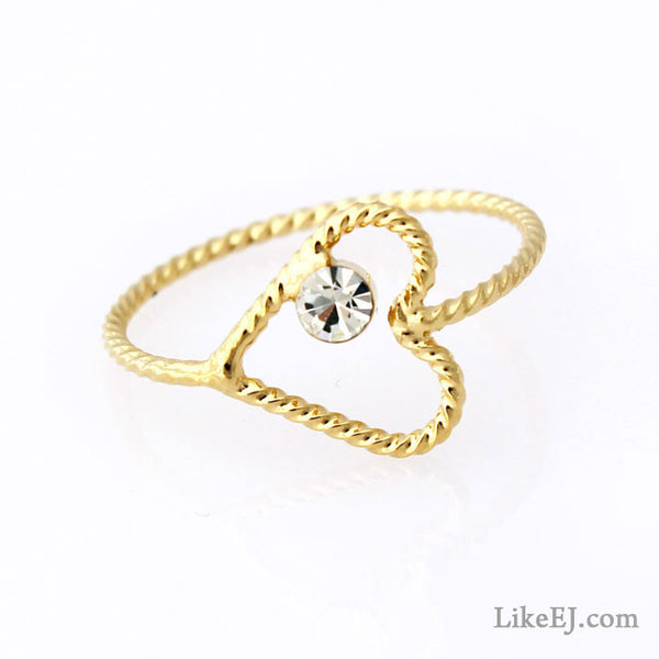 Slim Heart Ring - LikeEJ - 1