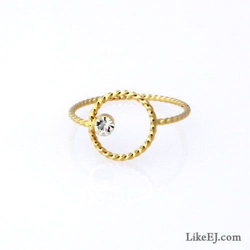 Circle Crystal Ring - LikeEJ