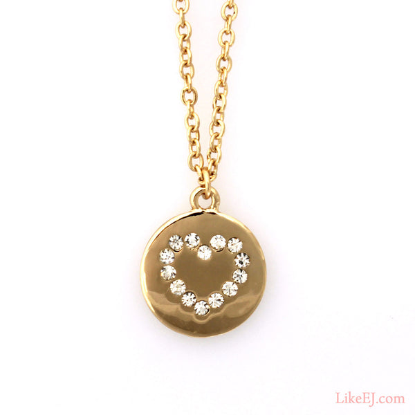 Heart Pendant Necklace - LikeEJ