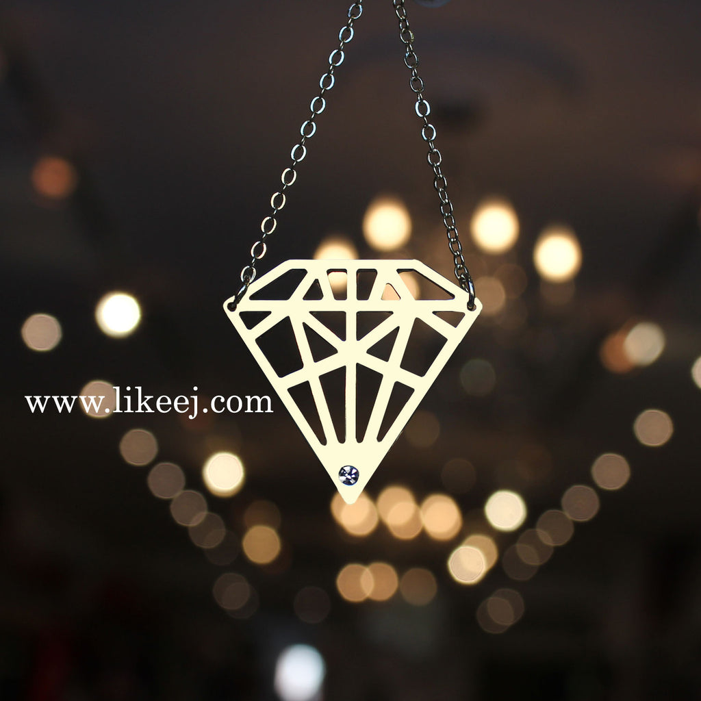 Diamond Shape Necklace - LikeEJ - 1