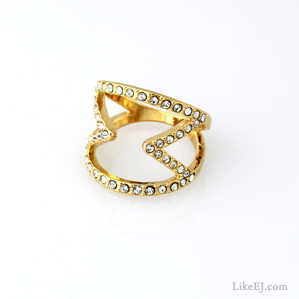 Sandglass Shape Ring - LikeEJ - 1