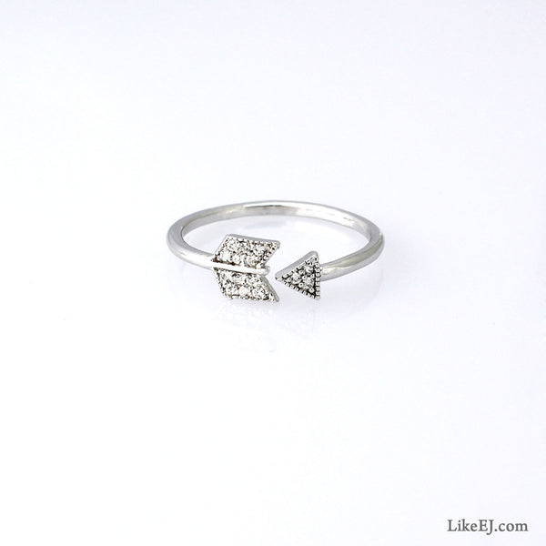 Crystal Arrow Ring - LikeEJ - 1
