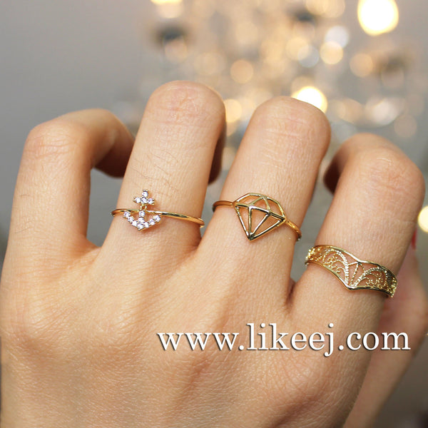 Crystal Anchor Ring - LikeEJ - 2