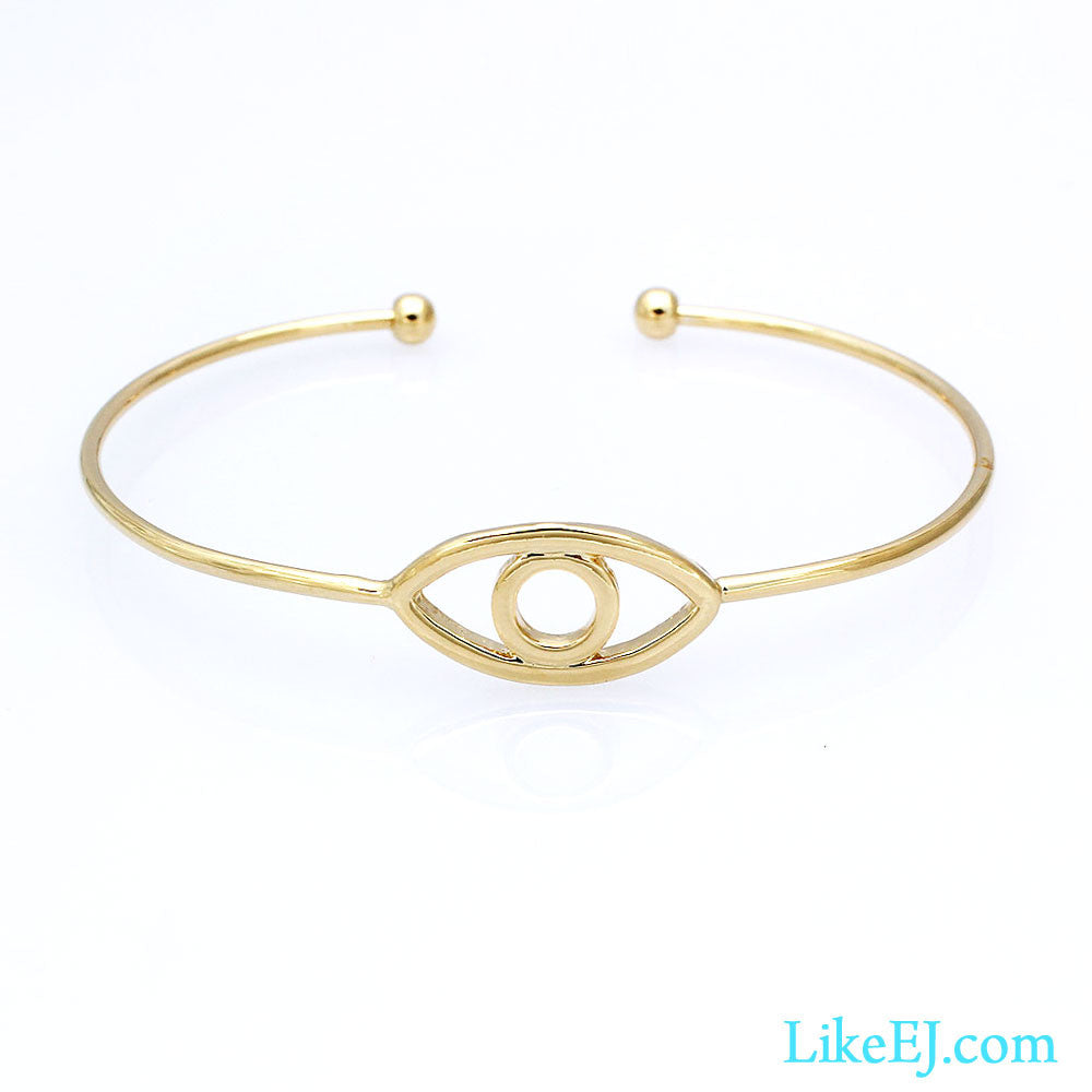 Eye Gold Bangle - LikeEJ - 1