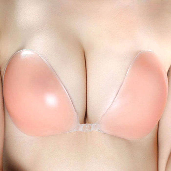 #1 Sticky Strapless Backless Silicone / Fabric Adhesive Invisible Bra A B C D Cup - LikeEJ - 5
