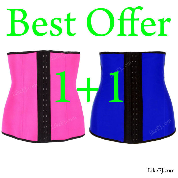 Waist Trainer cincher Corset Girdle Tummy Belt Deal of 2 pcs - LikeEJ - 1