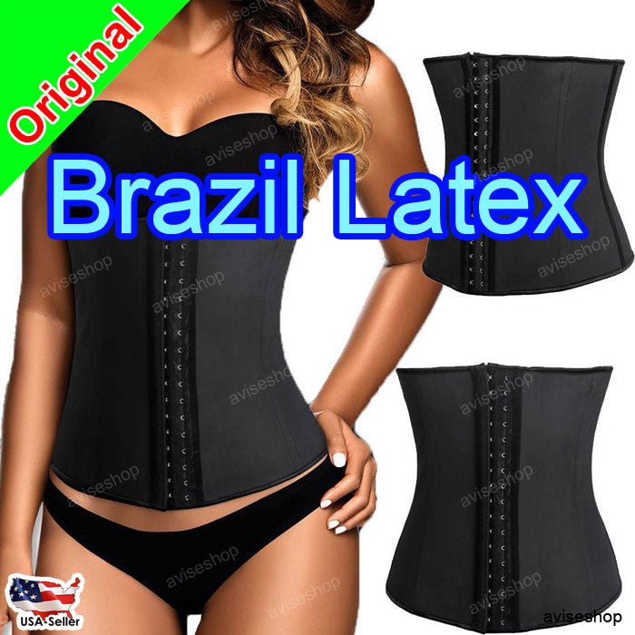 BRAZILIAN LATEX RUBBER WAIST TRAINER CINCHER