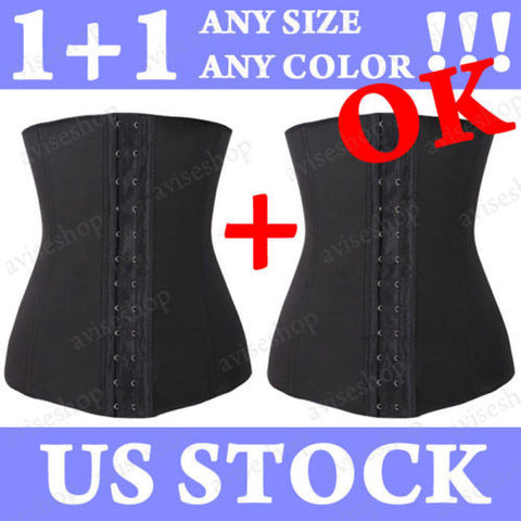 Underbust Corset Waist Trainer Trainning Corset Cincher Girdle Sport Body Shaper Workout #A-28