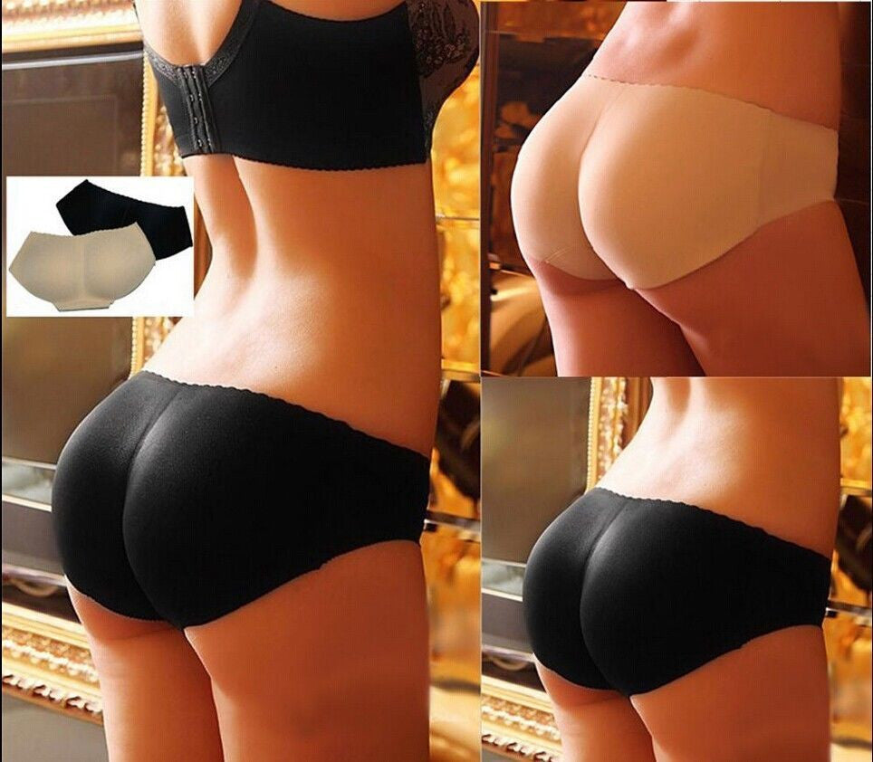 Sexy Booty Padded Seamless Butt Hip Enhancer Bottom Underwear Bum Shaper Panties - LikeEJ - 1