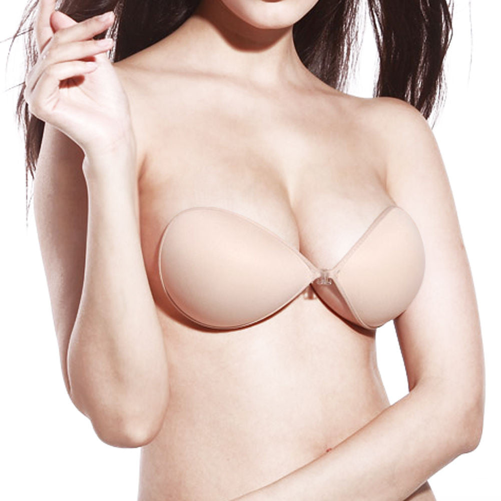 Sticky Strapless Backless Silicone Fabric Self Adhesive Invisible Bra #1 - LikeEJ - 1