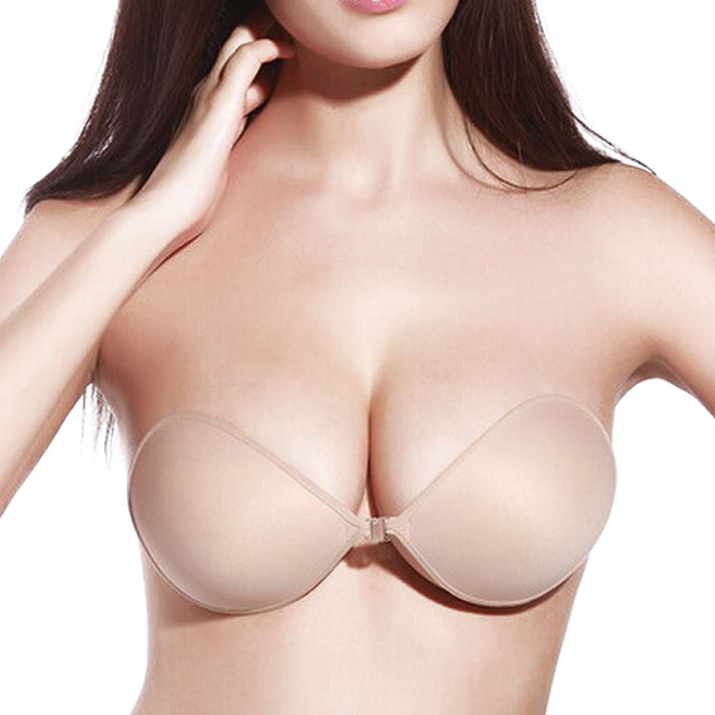 Sticky Strapless Backless Silicone Fabric Self Adhesive Invisible Bra #1C - LikeEJ - 1