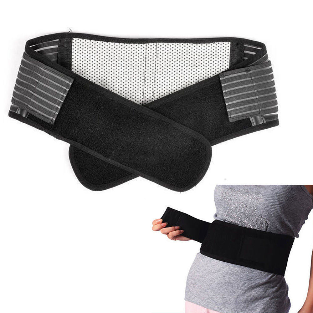 Magnetic Lumbar/ Lower Back Support Belt Deluxe Double Pull Breathable Brace #A-5 - LikeEJ - 1