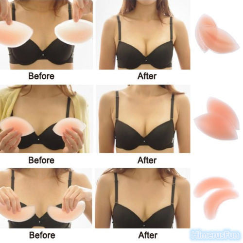 Invisible Gel Bra pad Thickening Gather Push Up Inserts silicone Breast Enhancer - LikeEJ - 1
