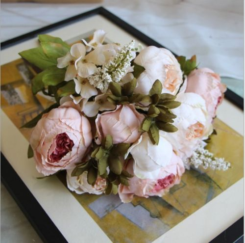 Artificial Silk Peony Flowers Home Wedding Party Bridal Bouquet Decor
