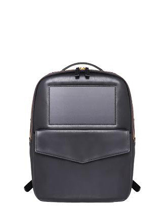 mini leather solar backpack