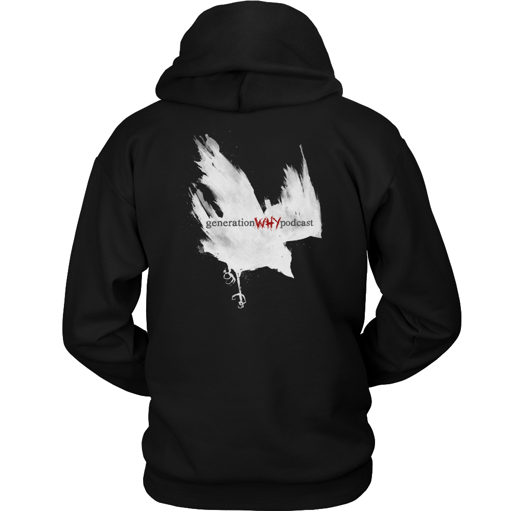 Crow Design Unisex Pullover Hooded Sweatshirt