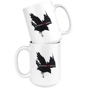 15oz White Ceramic Mug (3 designs)