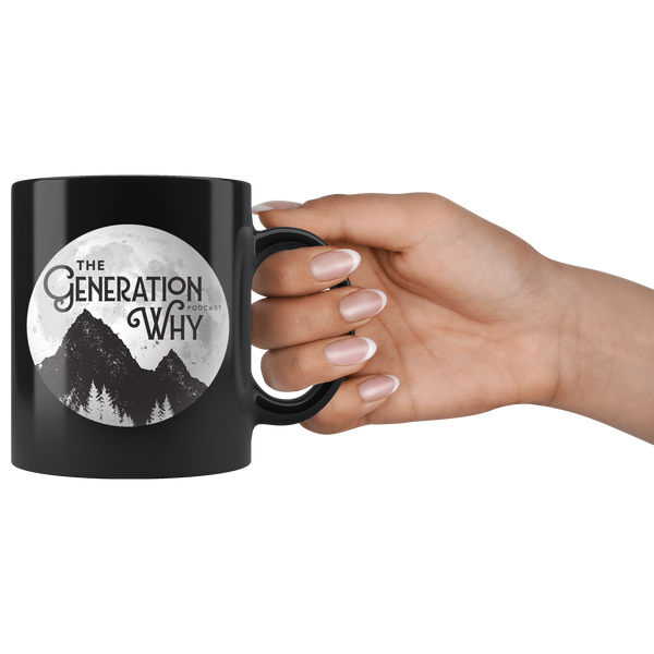 11 oz Black Ceramic Mug (3 designs)