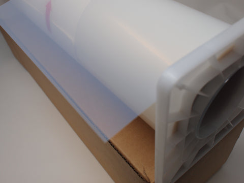 Inkjet translucent PET based film with microporous coating for screen printing