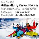 Gallery Glossy Canvas 340gsm