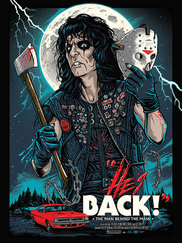 Alice Cooper - He's Back - 18x24 Screenprinted Poster