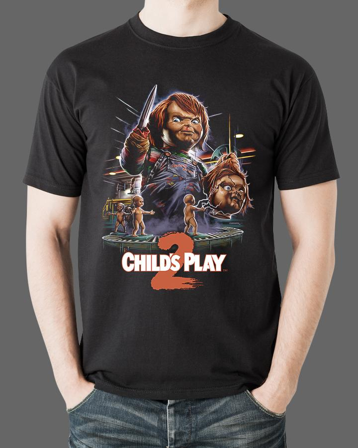 56b87a66 CHILD'S PLAY 2 - Horror Movie T-Shirt – Fright-Rags