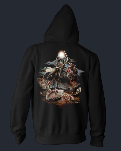 The Bloody Miner - Zippered Hoodie Hoodie Fright-Rags