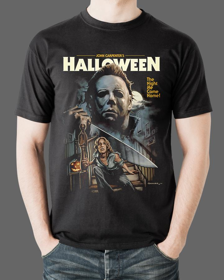 dc82ea37 JOHN CARPENTER'S HALLOWEEN - Michael Myers Halloween Movie T-Shirt ...
