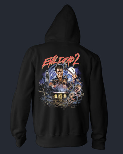Evil Dead 2 : Dead By Dawn - Zippered Hoodie Hoodie Fright-Rags