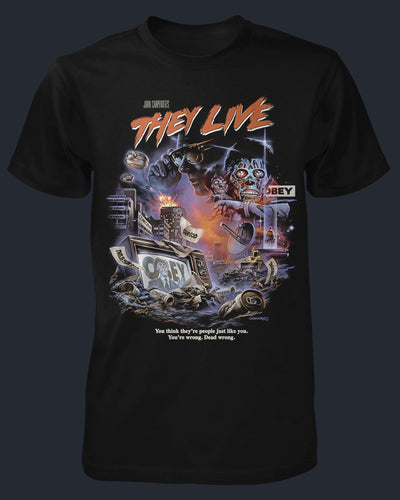 John Carpenter's They Live Shirt Fright-Rags