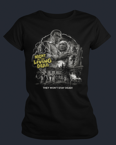 Night of the Living Dead - Womens Shirt Fright-Rags