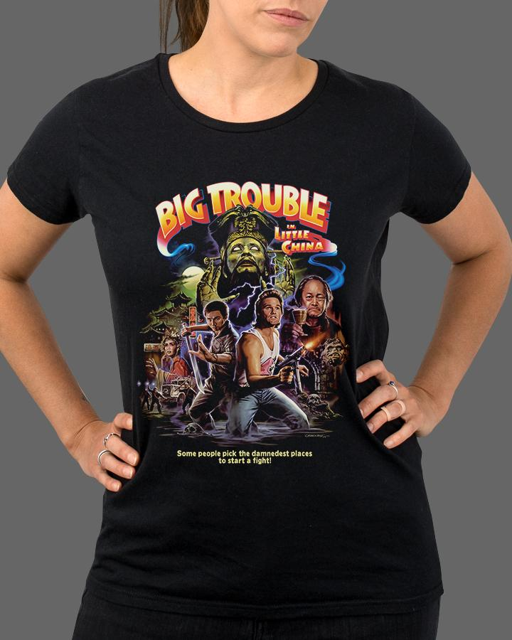 John Carpenter's Big Trouble in Little China - Womens Shirt (Ships the week of May 3)