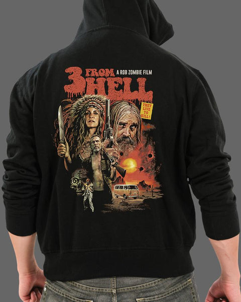Three From Hell - Zippered Hoodie