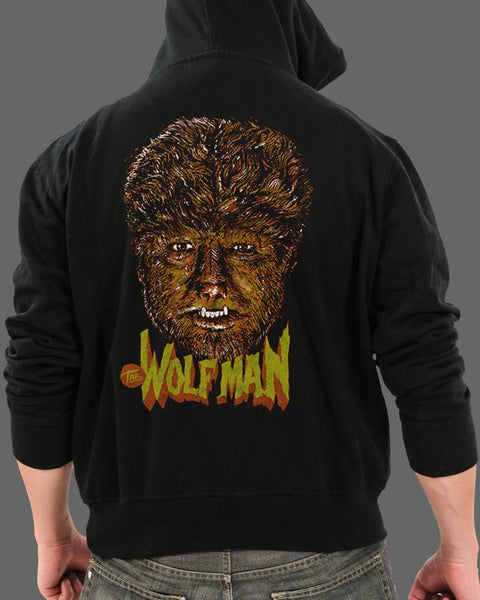 The Wolf Man - Zippered Hoodie
