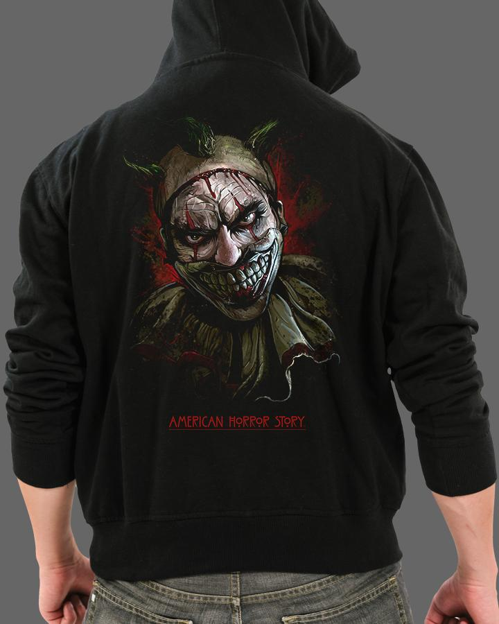 Twisty the Clown - Zippered Hoodie