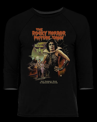 The Rocky Horror Picture Show - Baseball Tee Baseball Fright-Rags