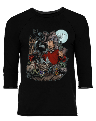The Godfather of Gore - Baseball Tee Baseball Fright-Rags