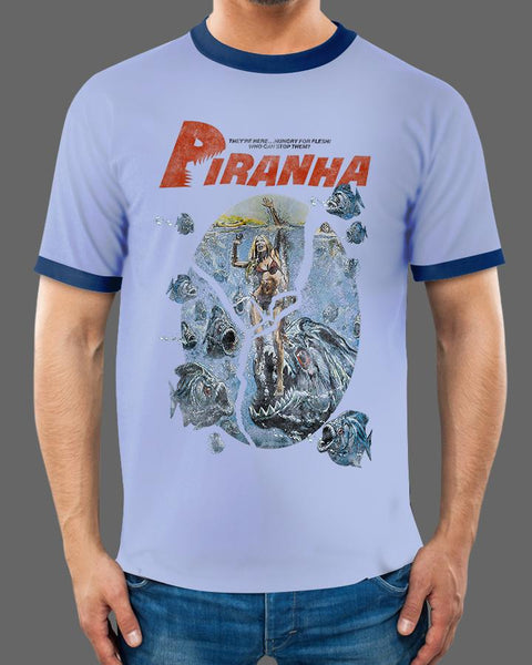 Piranha Classic - Ringer Tee (SHIPS THE WEEK OF JULY 24TH)