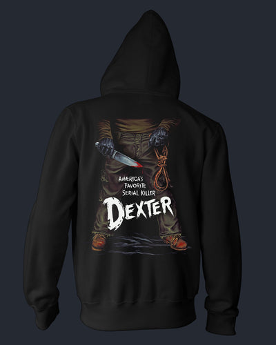 America's Favorite Serial Killer - Zippered Hoodie Hoodie Fright-Rags