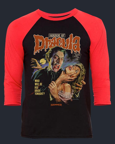Horror of Dracula - Baseball Tee Baseball Fright-Rags