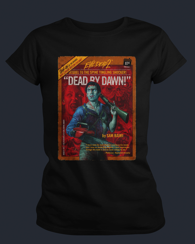 Evil Dead II - Pulp Novel - Womens Shirt Fright-Rags
